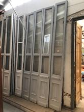Doors Antique stijl in wood and glass,