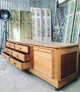 Ladekast dressoir Brocante stijl in Grenen,