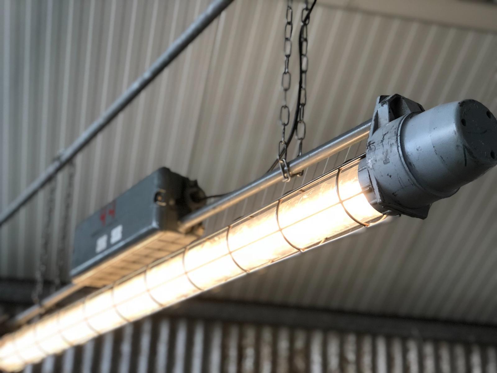 Grey industrial tl led light m long burbri recent added