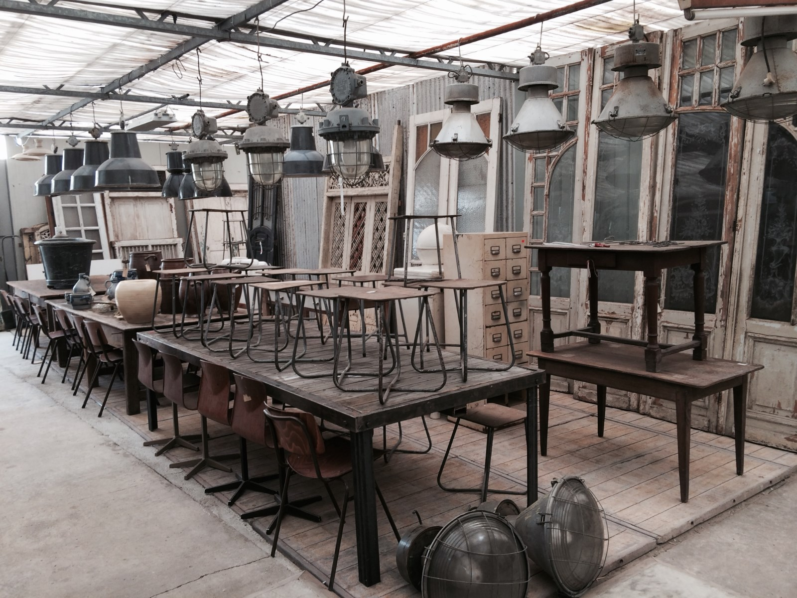Industrial Industrial Lighting Shop fittings Antique furniture Old ...