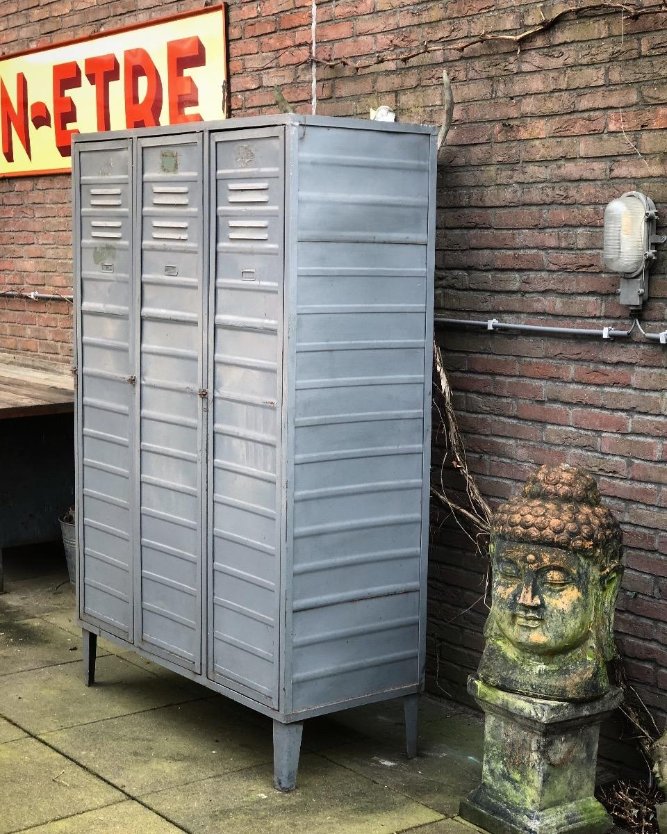 Industrial Locker Vintage Cabinet Retro Furniture