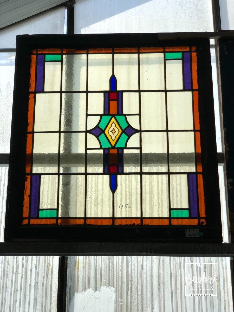 Glas En Lood Ramen.Antiek Glas In Lood Raam 1514286