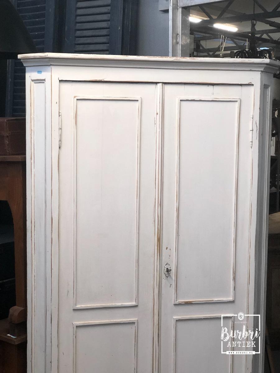 Witte Hoekkast Te Koop.Antique White Cabinet Antieke Kasten Antieke Meubels Burbri