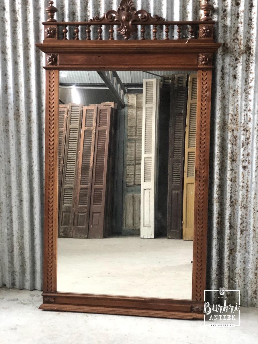 Grote Spiegel Hout.Antieke Grote Spiegel 1450987