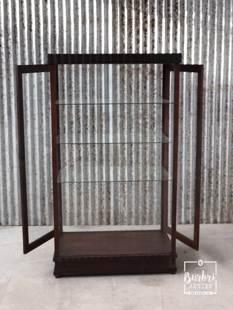 Antieke Vitrinekast Te Koop.Antique Showcase Antieke Vitrinekasten Winkelinrichtingen Burbri