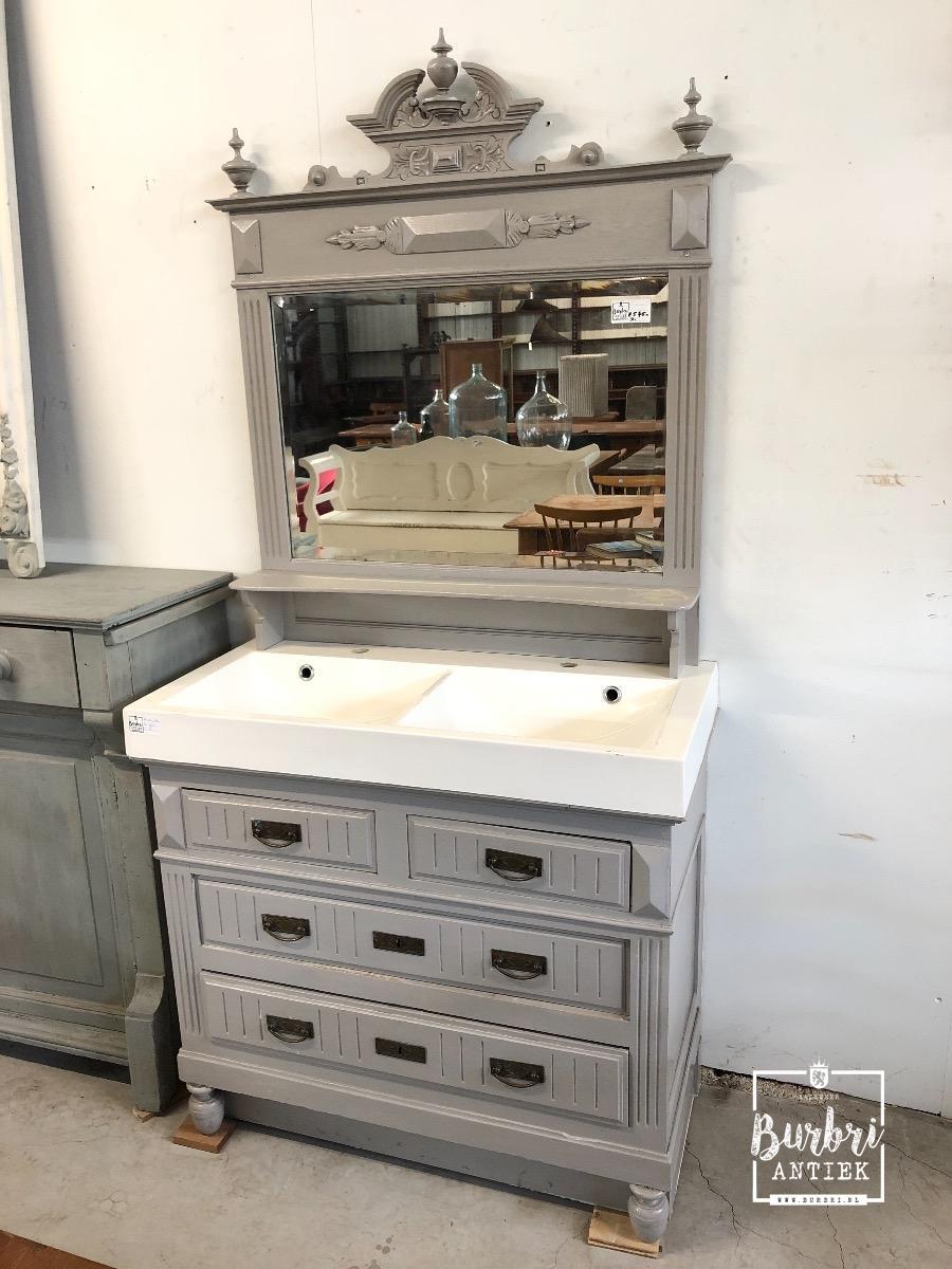 Wasbak Met Spiegel.Antique Sink With Mirror Antieke Meubels Burbri