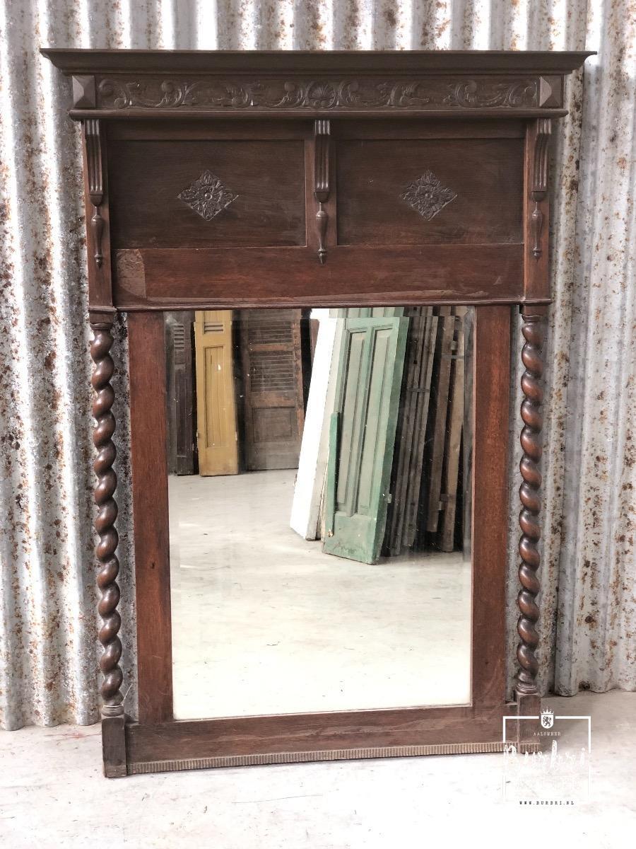 Verbazingwekkend Big antique wooden mirror - Antieke spiegels - Winkelinrichtingen EW-04