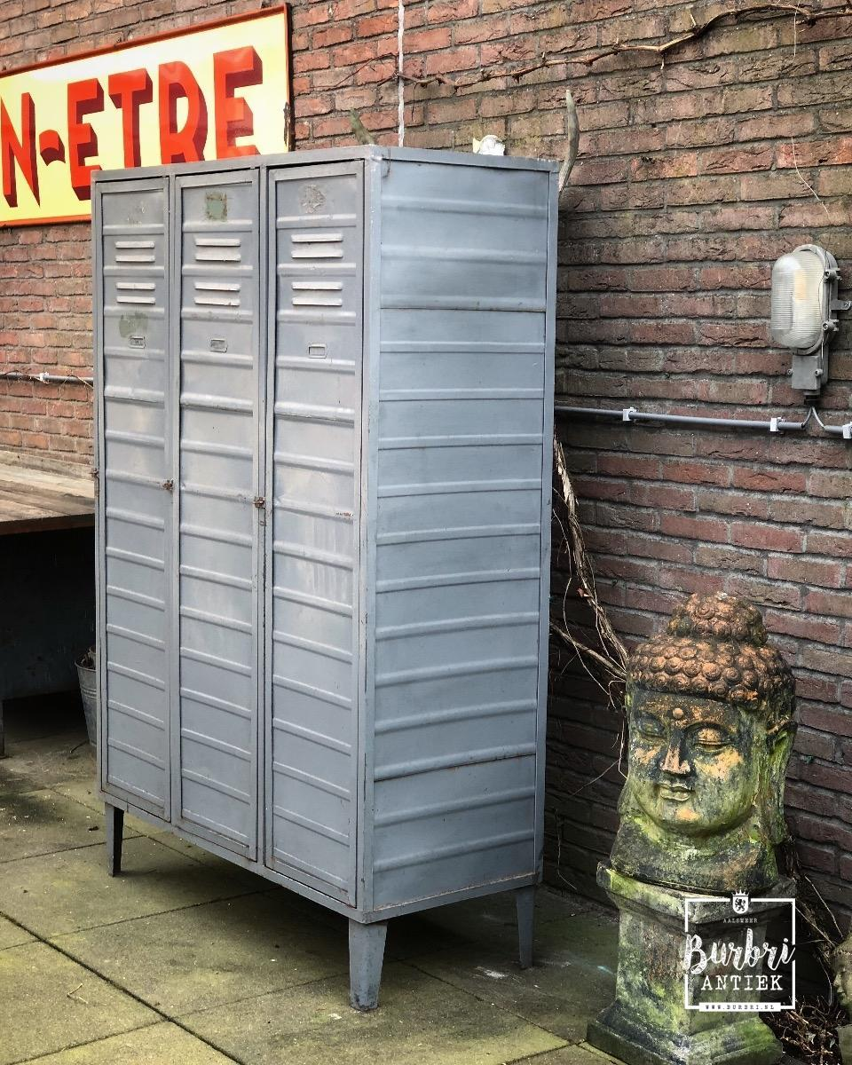 Industriële Lockerkast Vintage Kast Ijzer Locker 1258360