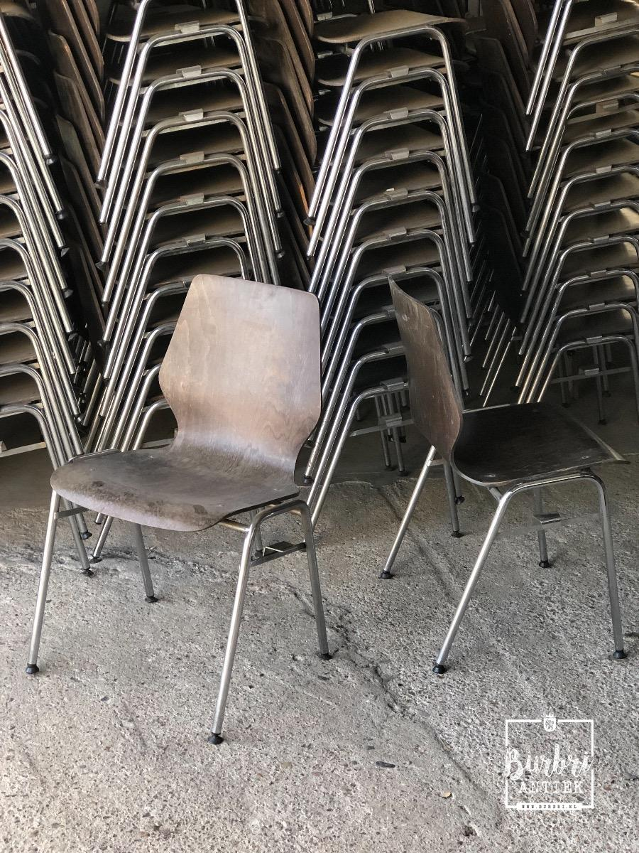 Industriele Stoelen Partij.Industriele Schoolstoelen Cafestoelen Verchroomd Partij 1446736