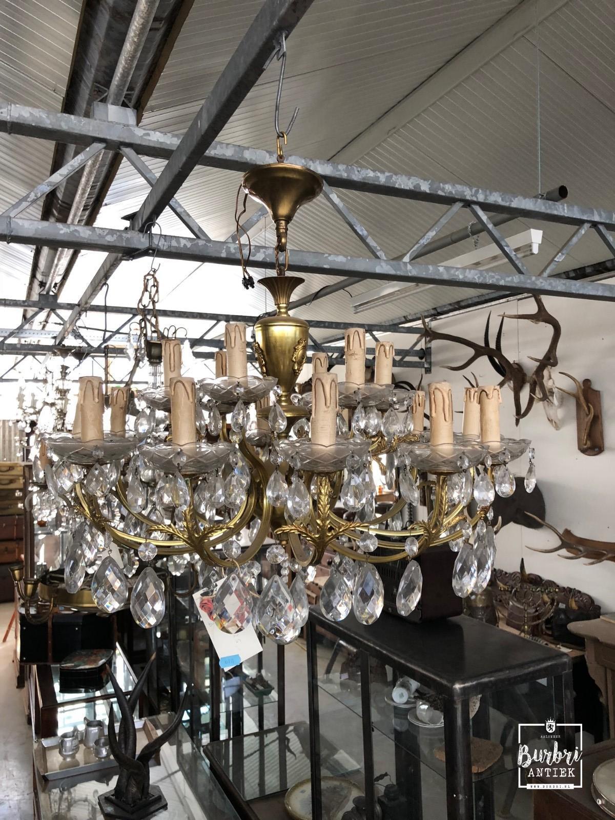 Lampen Antiek stijl in Kristal, - Antieke verlichting - Burbri