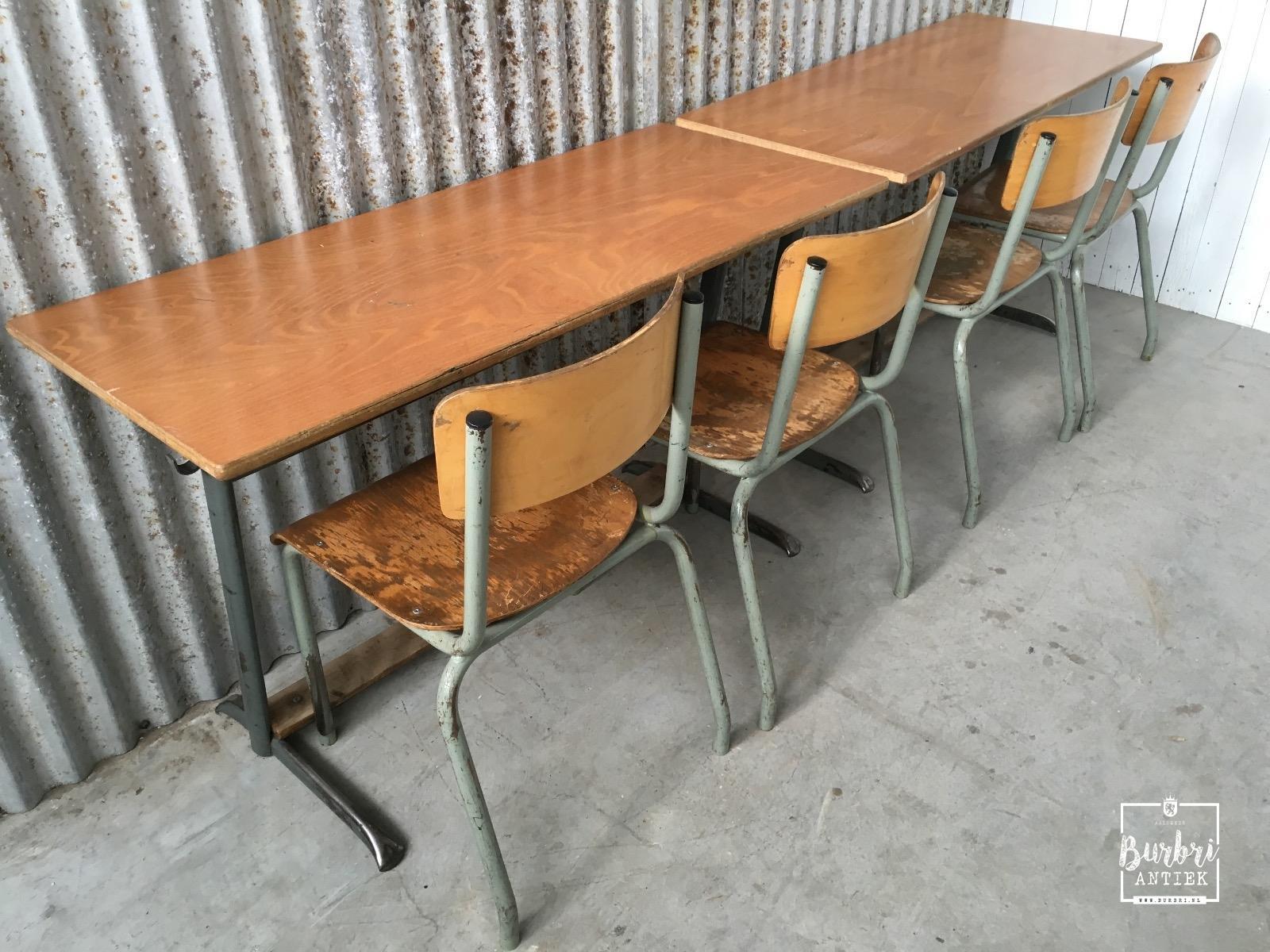 More industrial old vintage desk tubax table werkbanken