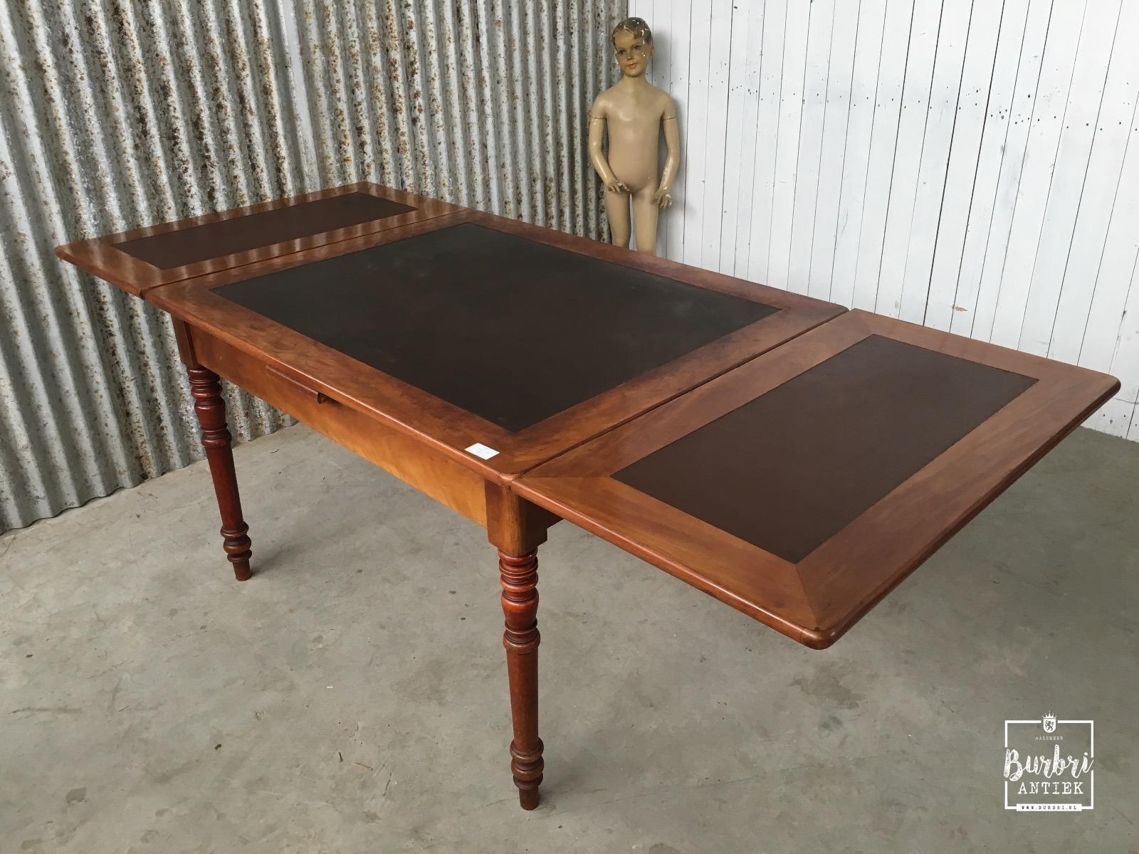 Antieke Uitschuifbare Eettafel.Uitschuifbare Tafel Mahonie Tafel 1237844